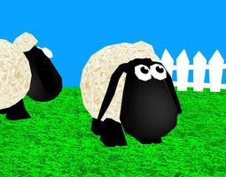 3D model Toon Sheep