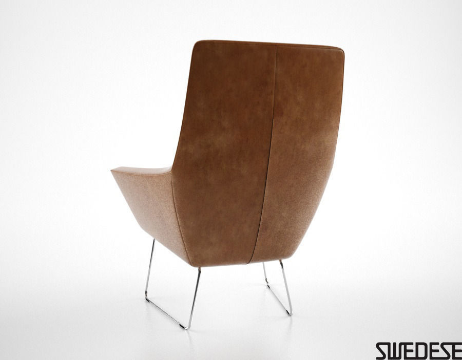 Swedese Happy Easy Chair 3D Model max obj fbx CGTrader com