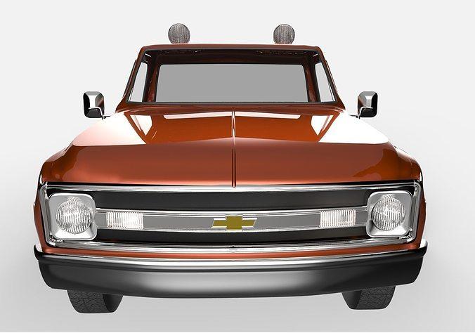 1965 chevrolet c10 3d model fbx 3dm 1