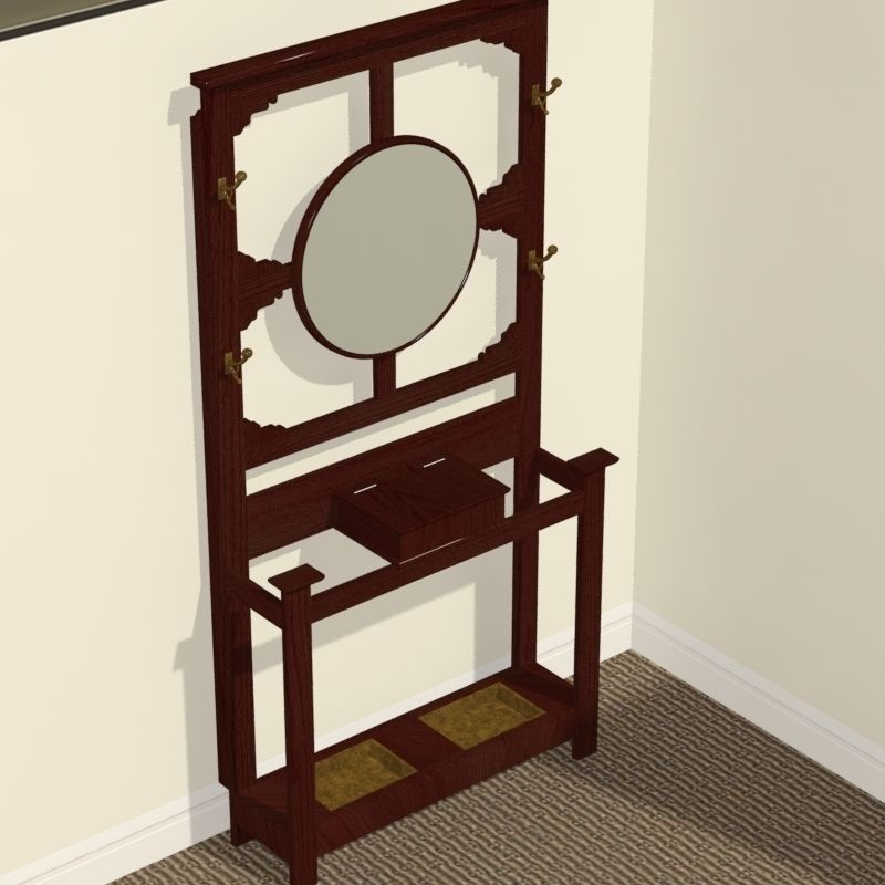 3d Model Antique Hat Rack Or Hall Stand Cgtrader
