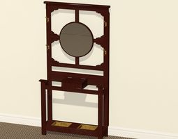 Antique Hat Rack or Hall Stand 3D Model
