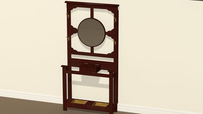 Antique Hat Rack or Hall Stand3D model
