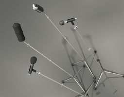 Microphone collection 3D Model