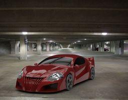 3D model Concept Car death