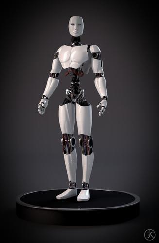 futuristic robot3D model