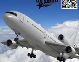 low-poly rigged 3d asset lockheed l-1011 tristar