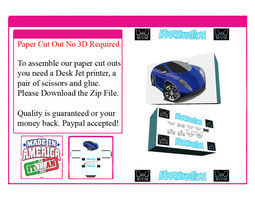Car Paper Cut Out Not A 3D Model animated