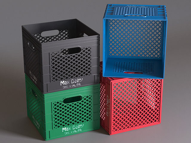 plastic milk crates storage ideas target crate model max obj diy