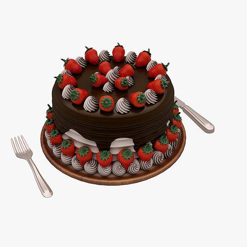 cake 001 3d model max obj fbx mtl 1