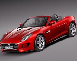 Jaguar F-type convertible 2014 3D Model