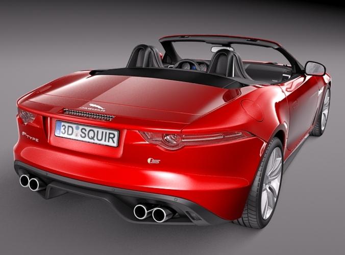 jaguar f type convertible 2014 3d model max obj 3ds fbx c4d lwo lw lws. Black Bedroom Furniture Sets. Home Design Ideas