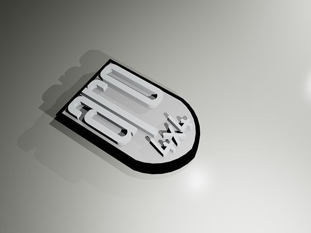 Aro Suv Logo Print Model Cgtrader