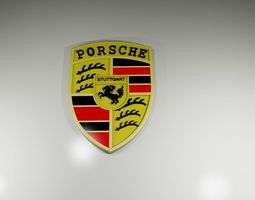 3D printable model Porsche Cars Logo