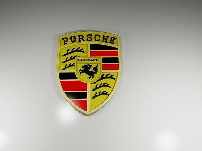 3d Printable Model Porsche Cars Logo Cgtrader