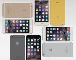 iphone 6 plus all pack 3d model low-poly obj blend