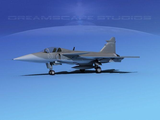 SAAB S39 Gripen Fighter V023D model