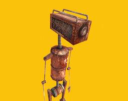 3D asset Rusty robot