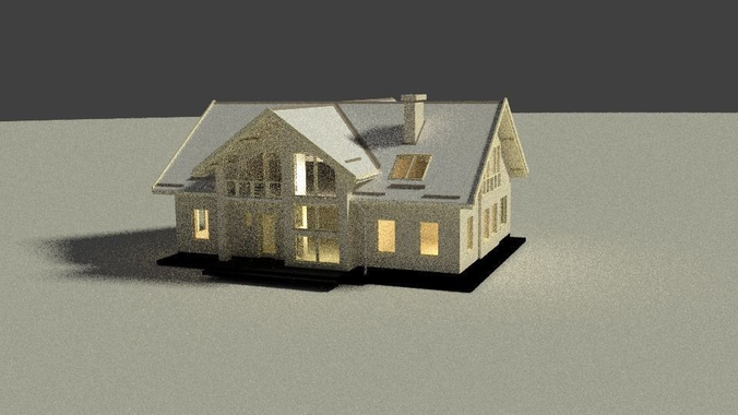 Simple house free 3d model game ready blend for Minimalist house 3d model