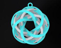 Intersecting Tori Pendant 3D printable model