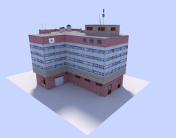 realtime 3d asset free office building