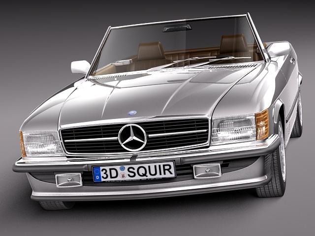 Mercedes sl r107 1971 1989 3d model max obj 3ds fbx for Mercedes benz usa models
