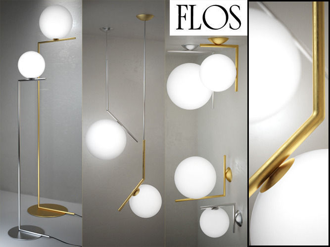 3d ic lights floor suspension ceiling wall by flos ic lights floor suspension ceiling wall by flos 3d model max obj fbx unitypackage 1 mozeypictures Image collections