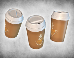 3D model Coffee Take Away