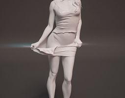 sculpture girl 3d print model
