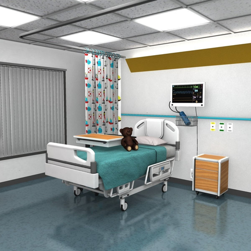 Childrens Hospital Room3D model