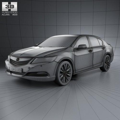 Acura RLX 2013 3D Model .max .obj .3ds .fbx .c4d .lwo .lw