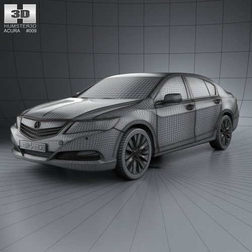 Acura Rlx: Acura RLX 2013 3D Model .max .obj .3ds .fbx .c4d .lwo .lw