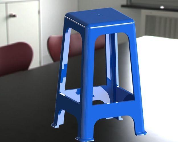 Chaise plastique free 3d model for Chaise plastique
