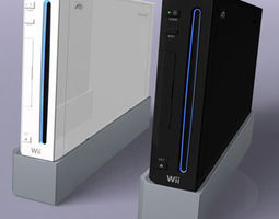 Nintendo Wii console 3D Model