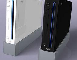 Nintendo Wii console 3D Model