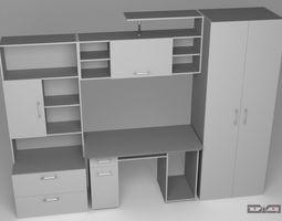 Cabinet Metallic 3D Model