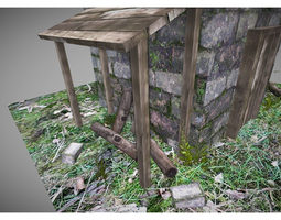 3D model free low poly tower