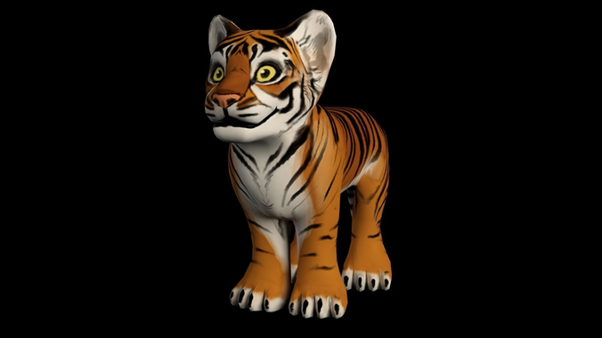 Hand Painted Tiger3D model