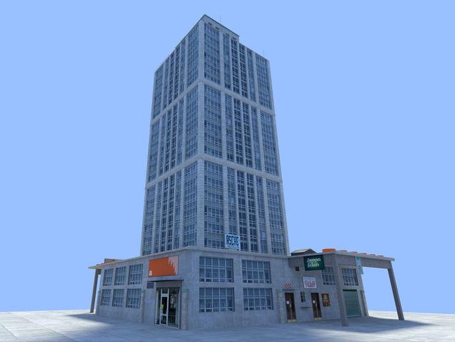 city skyscraper3D model