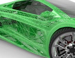 Racing Concept Car 3D Model