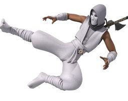 3D model Ninja RIGGED