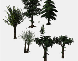 Tree Collection Use For Your Scenes 3D asset