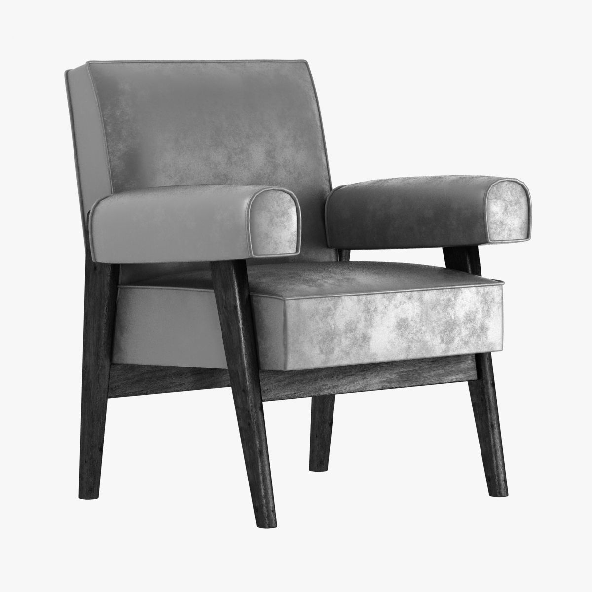 le corbusier and pierre jeanneret armchair 3d model max obj 3ds fbx mtl 1