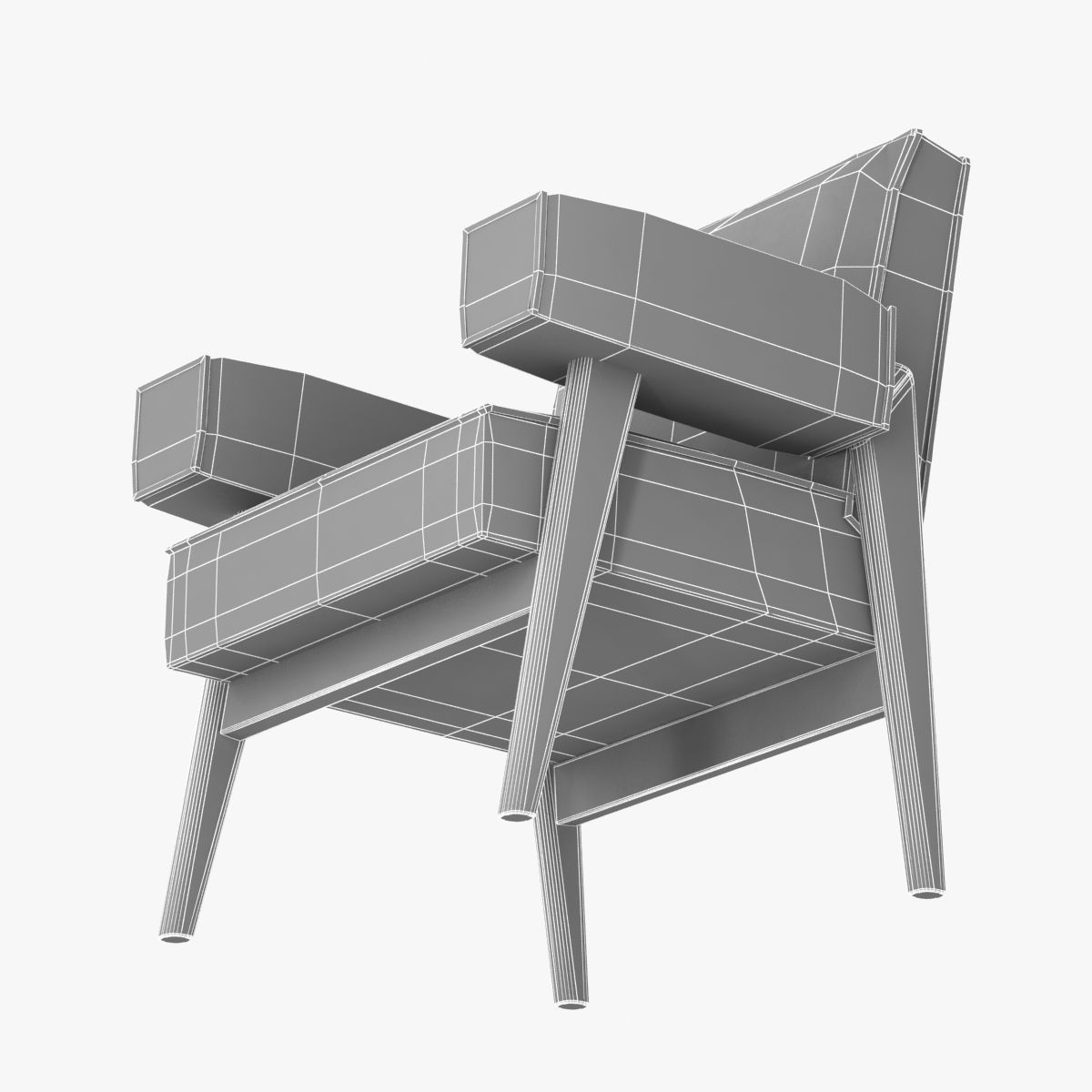 LE CORBUSIER AND PIERRE JEANNERET armchair 3D Model .max ...