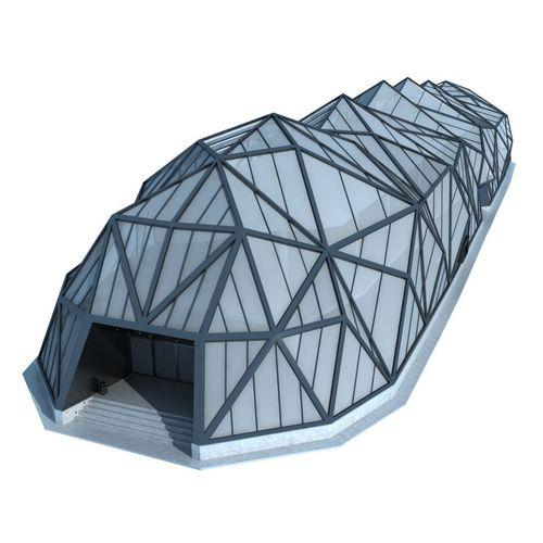 Modern Futuristic Building3D model