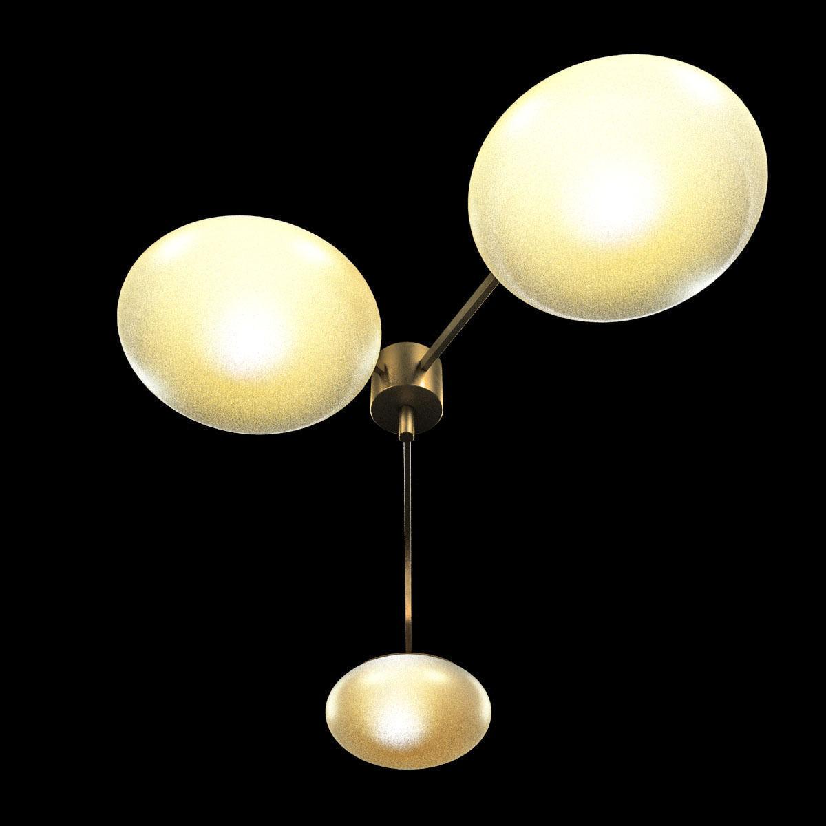 Chandelier by angelo lelli for arredoluce 3d model max obj for Arredo luce