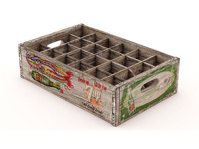 Vintage Crates 013D model