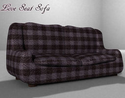 Love Seat Sofa 3D model