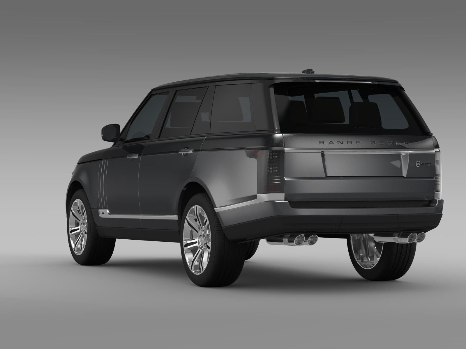 range rover svautobiography lwb l405 2016 3d model max obj 3ds fbx c4d lwo lw lws. Black Bedroom Furniture Sets. Home Design Ideas