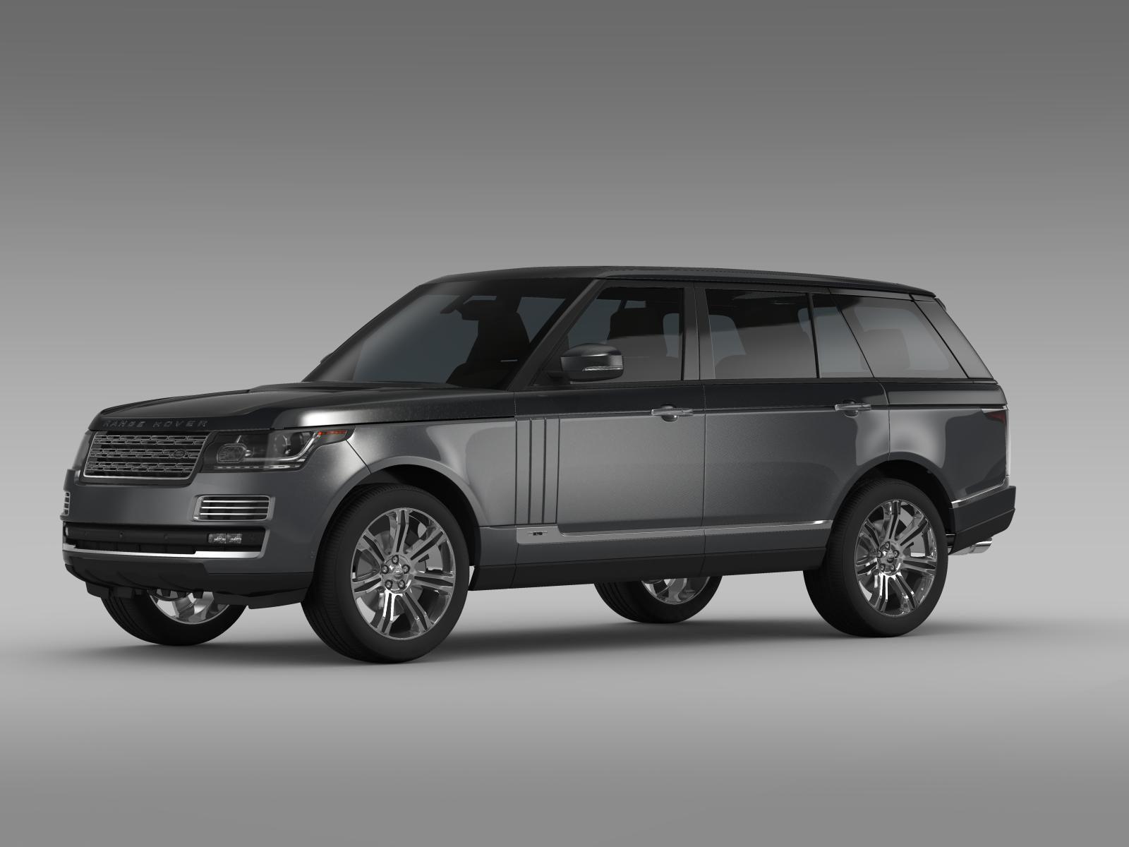 range rover svautobiography lwb l405 2016 3d model max. Black Bedroom Furniture Sets. Home Design Ideas