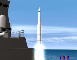 3D RIM-162 ESSM Missile